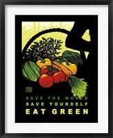 Framed Eat Green