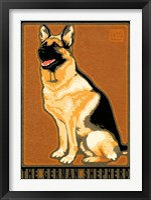 Framed German Shepherd