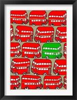 Framed Odd Ones - Green Double Decker