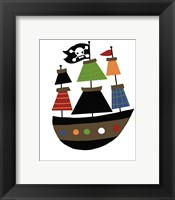 Framed Pirate Ship