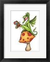 Framed Toadstool Sitter - Dragon