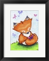 Little Fox and New Friend Framed Print