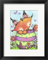 Framed Happy Easter Little Fox
