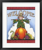 Framed Scarecrow Welcome