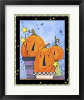 Framed Pumpkin Pot Friends
