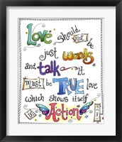 Framed Words of Love - Love in Action