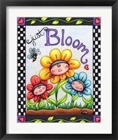Framed Just Bloom