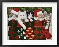 Framed Christmas Kittens