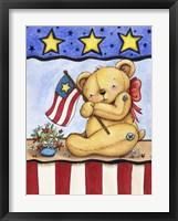 Framed Patriotic Bear
