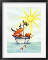 Framed Little Fox at Sea