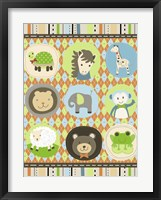 Baby Boy Animal Friends Framed Print