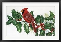 Framed Cardinals & Holly