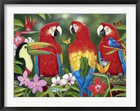 Framed Tropical Friends
