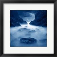 Framed Tormenta en ixtapa Blue