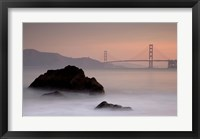 Framed Rocks And Golden Gate Bridge