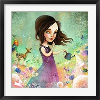 Her Secret Garden Grows Framed Print