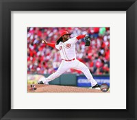 Framed Johnny Cueto Baseball Pitching