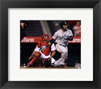 Framed Robinson Cano 2014 Action