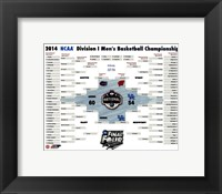 Framed University of Connecticut Huskies 2014 NCAA Men's College Basketball National Champions Bracket
