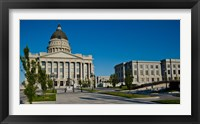 Framed Facade of a Government Building, Utah State Capitol Building, Salt Lake City, Utah
