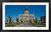 Framed Utah State Capitol Building, Salt Lake City, Utah