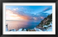 Framed Sunset in Positano, Amalfi Coast, Italy