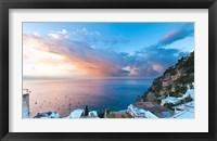 Framed Sunset in Positano, Amalfi Coast, Italy