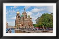 Framed Church in a city, Church Of The Savior On Blood, St. Petersburg, Russia