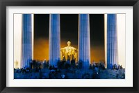 Framed Tourists at Lincoln Memorial, Washington DC, USA