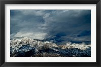 Framed Clouds over the Wasatch Mountains, Utah, USA