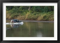 Framed Sports utility vehicle crossing a river, Ora River, Playa Carrillo, Guanacaste, Costa Rica