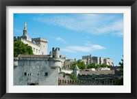 Framed Low angle view of city walls, Pont Saint-Benezet, Rhone River, Avignon, Vaucluse, Provence-Alpes-Cote d'Azur, France