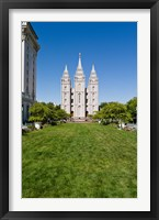 Framed Mormon Temple, Temple Square, Salt Lake City, Utah