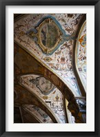 Framed Vaulted ceiling of the Antiquarium, Residenz, Munich, Bavaria, Germany