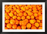 Framed Close-up of oranges, Santa Paula, Ventura County, California, USA
