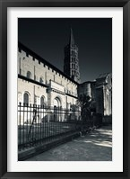 Framed Entrance of the Basilica of St. Sernin, Toulouse, Haute-Garonne, Midi-Pyrenees, France
