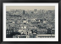 Framed Aerial view of a city viewed from Basilique Du Sacre Coeur, Montmartre, Paris, Ile-de-France, France