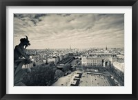 Framed City viewed from the Notre Dame Cathedral, Paris, Ile-de-France, France