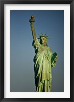 Framed Low angle view of a statue, Statue Of Liberty, Manhattan