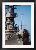 Framed Close UP of USS Missouri, Pearl Harbor, Honolulu, Oahu, Hawaii