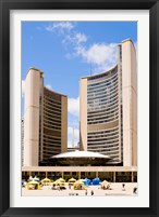 Framed Facade of a government building, Toronto City Hall, Nathan Phillips Square, Toronto, Ontario, Canada