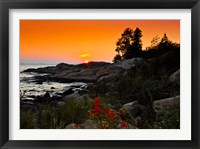 Framed Rock formations on the coast, Georgian Bay, Ontario, Canada