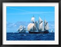 Framed Tall ship regatta, France