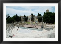 Framed Ancient theatre built 1st century BC, Theatre Antique D'Arles, Arles, Provence-Alpes-Cote d'Azur, France