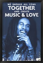 Framed Bob Marley - Love & Music
