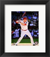 Framed Mark Trumbo Batting Action 2014