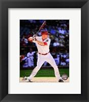 Framed Mark Trumbo Batting Action 2014