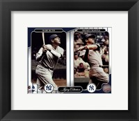 Framed NY Yankees Legacy Collection #3 Babe Ruth & Mickey Mantle
