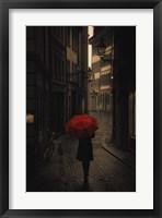 Framed Red Rain