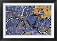 Framed Blue Graffiti Bike